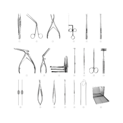 Set 8a dcr surery set of 20 instruments | surgical